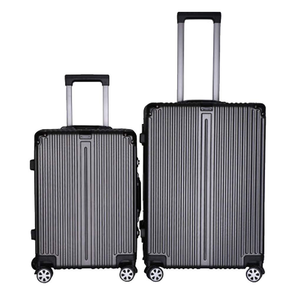 高級アルミフレーム荷物、パスワード荷物、ユニバーサルホイールトロリーケース、サイレントホイール荷物、税関ロックボードパッケージ、-grey-M Medium grey B07R72D9ZN