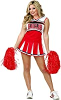 Charades Womenu0027s Adult Glee Club Two Piece Costume Set  sc 1 st  Amazon.com & Amazon.com: Glee Inspired Cheerleader Halloween Costume (Adult X ...