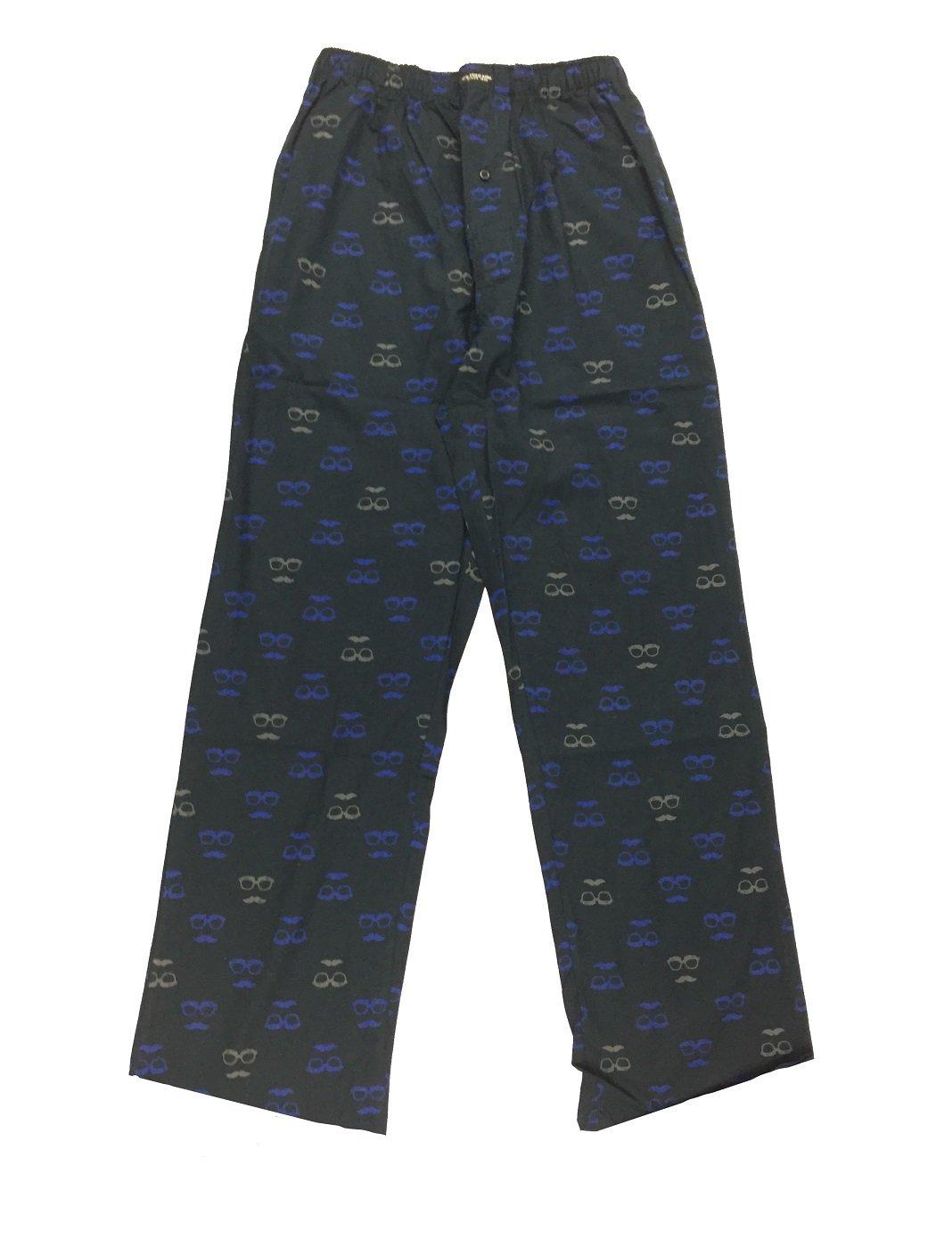 U.S. Polo Assn. Men's Sleepwear Cotton Lounge Pajama Pant (Black with Glasses, XL) (Black with Glasses, S)