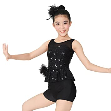 75f50842b MiDee Dance Costume Illusion Sweetheart Jazz Outfits For Girls ...