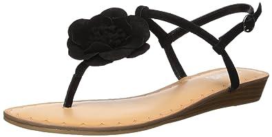 a9b2a0e582e4 Carlos by Carlos Santana Women s Teagan Wedge Sandal Black 5 Medium US