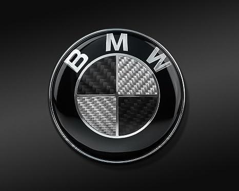 Emblem f/ür Capo 82mm Emblem Schwarz Kohlefaser eingearbeitet zwei Z/ähne