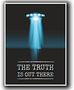 2 x 10cm/100mm UFO Alien X-Files Area 51 Vinyl Sticker Decal Laptop Travel Luggage Car iPad Sign Fun #4058