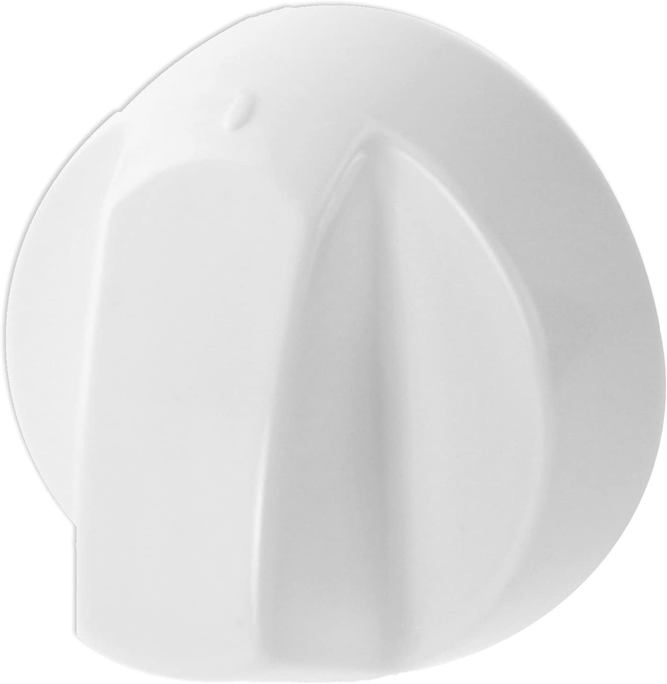 Spares2go White Control Knobs For Rangemaster Oven Cooker & Hob (Pack Of 1 + 4 Adaptors)