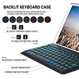 YEKBEE-iPad-Pro105-Keyboard-Case-Cover-with-Folio-PU-Leather-Folio-Smart-Stand-Case-and-7colors-backlit-Magnetic-Removable-Wireless-Bluetooth-Keyboard-Blue