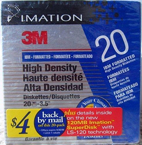 Imation 3M Pack Of 20 High Density 3.5'' Floppy Disks IBM Formatted