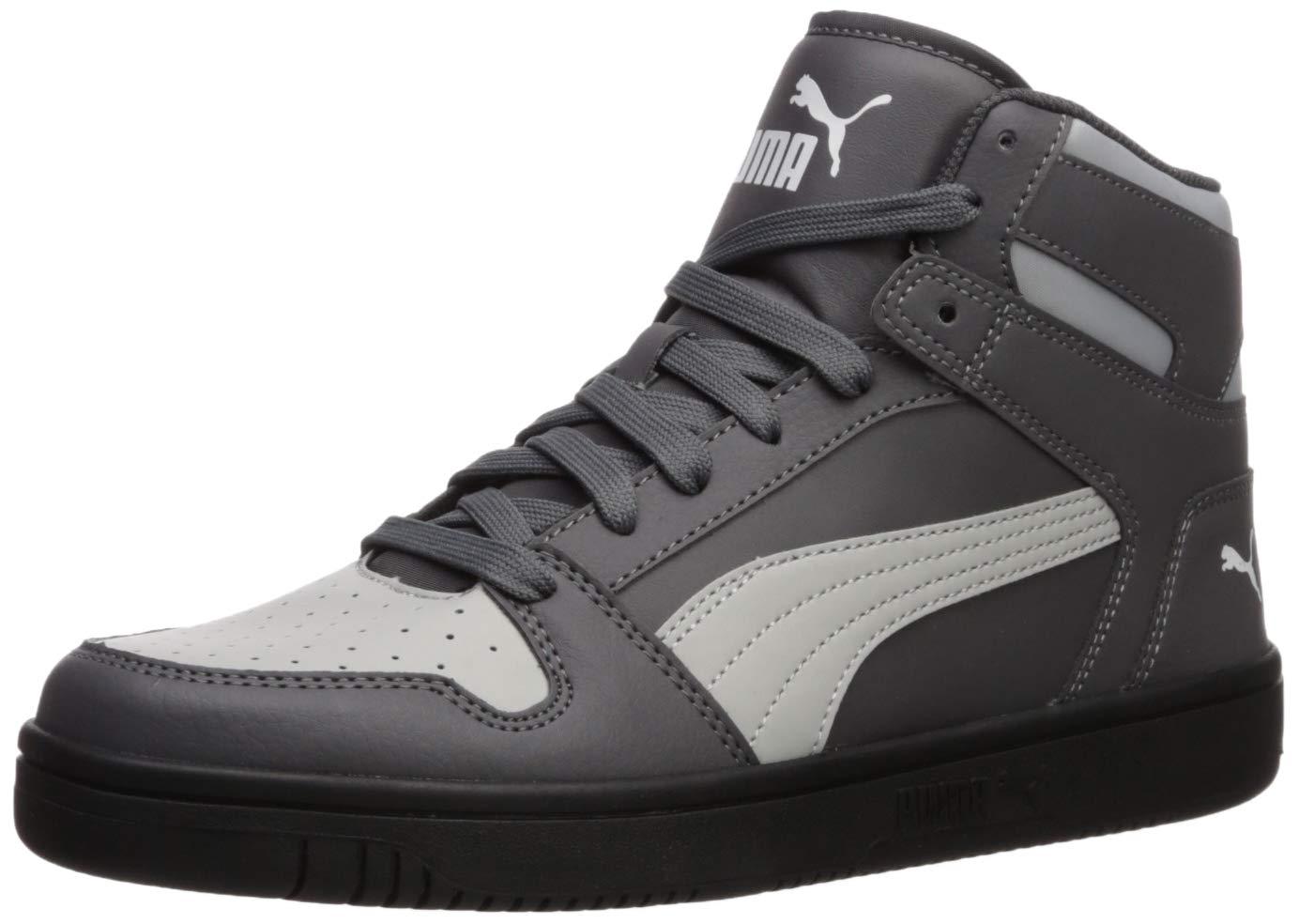 PUMA Rebound Layup Sneaker, Castlerock-High Rise White Black, 13 M ...