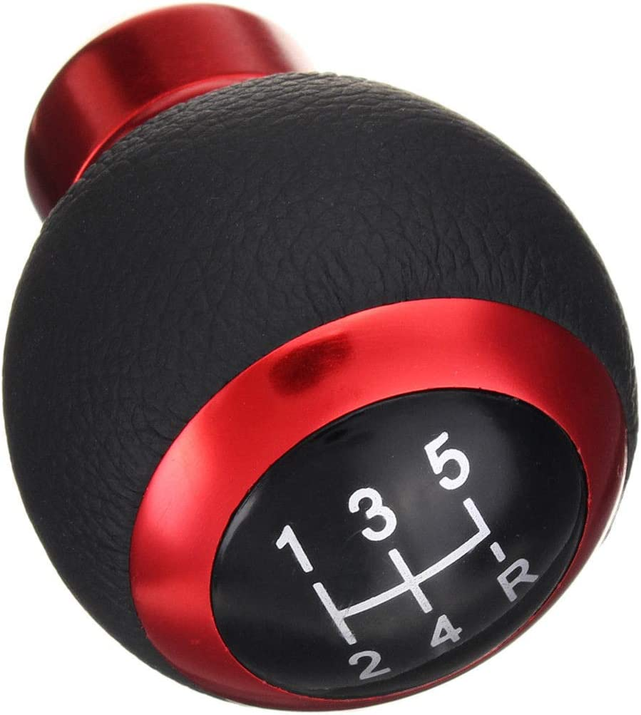 Bingohobby Car Gear Shift Knob 5 Speed Shifter Stick Cover Shifting for Manual Transmission Black PU Leather
