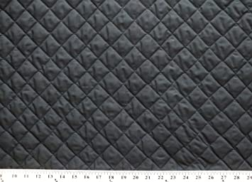 Amazon.com: Double-faced Reversible Pre-quilted Black PolyCotton ... : pre quilted fabric for sale - Adamdwight.com
