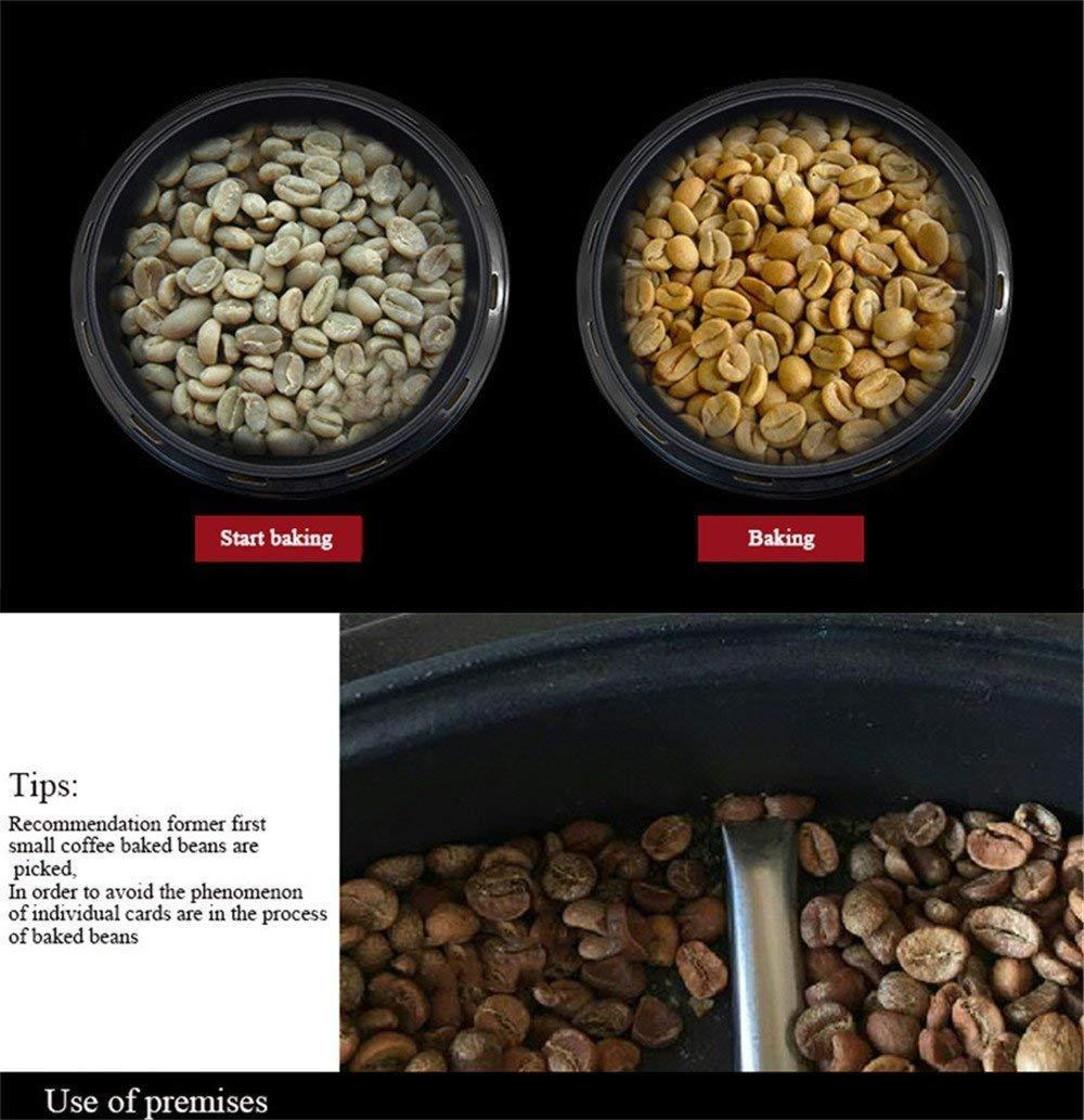 -Acero M/áquina de caf/é Mini calentador de caf/é con Agitador tostador de caf/é Tostadora de la casa Tostador de cafe para los granos de caf/é 220V // 1200W