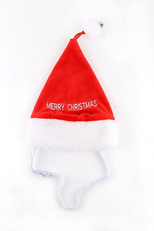 534d3733927 Amazon.com   Midlee Merry Christmas Jingle Bell Dog Santa Hat (Medium)   Pet  Supplies