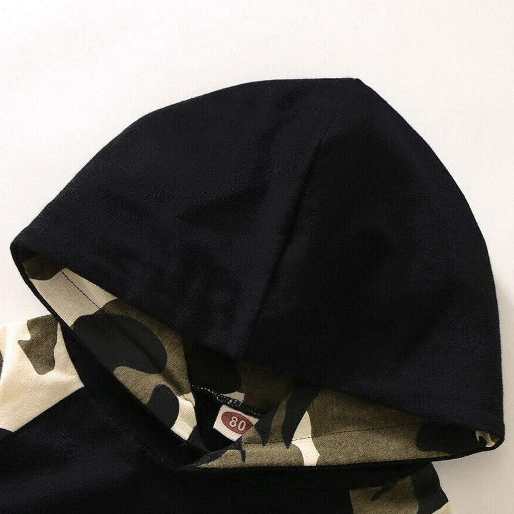 S/ü/ß Lang/ärmliges Hemd Comie Baby Winterkleidung Eingestellt Neugeborenes Baby Boy Brief Hoodie T-Shirt Top Camouflage Hosen Set
