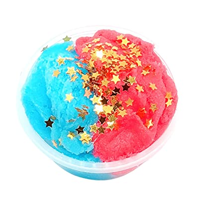 Kids Fluff Fluffy Slime, Routinfly Stress Relief Fluffy Floam Glitter Mud Mixing Cloud Slime Scented Mud Toy for Any Child and Adults (A): Clothing