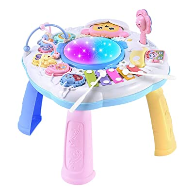 Wenjuan Baby Toys Musical Learning Table 6 Months Up- Preschool Education Music Activity Game Table Center Kids Toddler Boys & Girls Toys for 1 2 3 Years Old Best Lighting & Sound Gifts: Toys & Games