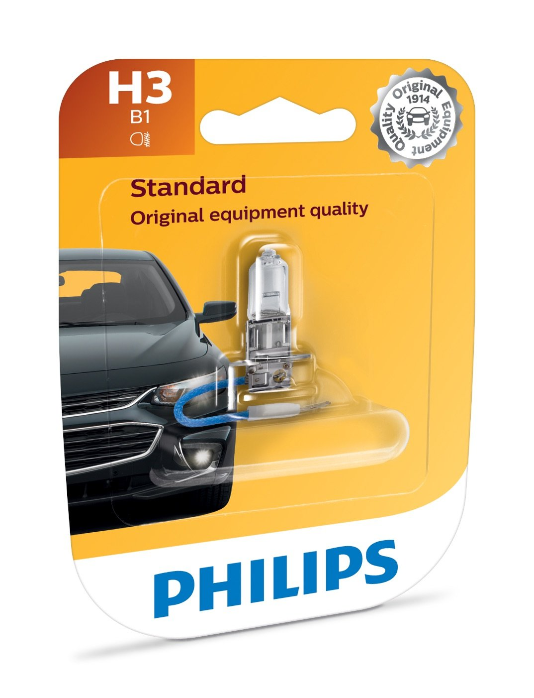 Philips 12362B1 H11 Standard Halogen Replacement Headlight Bulb 1 Pack