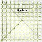 Dritz Omnigrip 10-1/2-Inch by 10-1/2-Inch Non-Slip, Quilter's Ruler