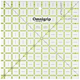 Omnigrip 10-1/2-Inch-by-10-1/2-Inch Non-Slip Quilter's Ruler