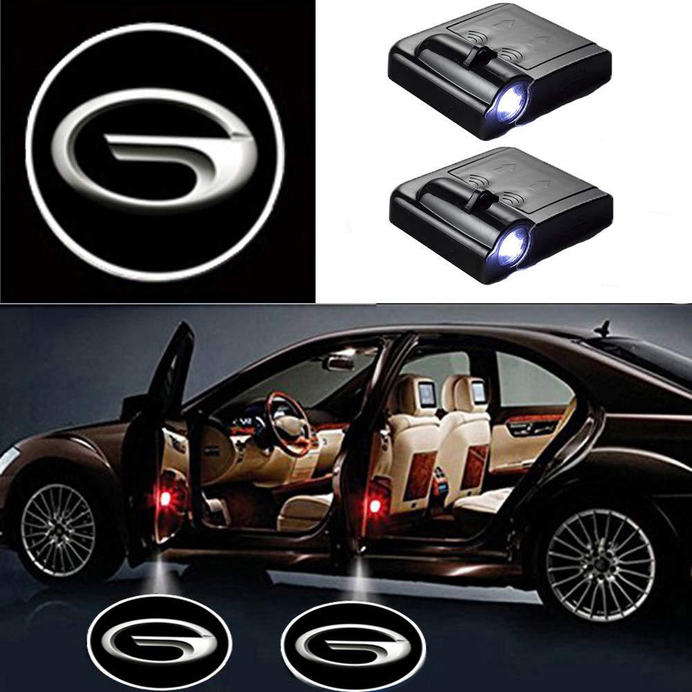 MIVISO 2 St/ücke Auto Logo Projektor Ghost Shadow Embleme Drahtlose Autot/ür Lichter Led Laser Lampe Willkommen Courtesy Licht