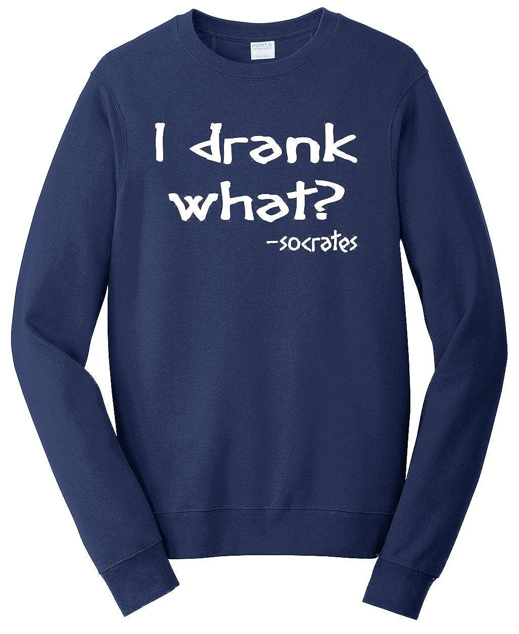 Tenacitee Unisex I Drank What Sweatshirt Socrates