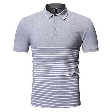 Herren Performance Poloshirt Kurzarm Slim Fit Patchwork Hemd mit Kent-Kragan,für Business,Anzug,Büro