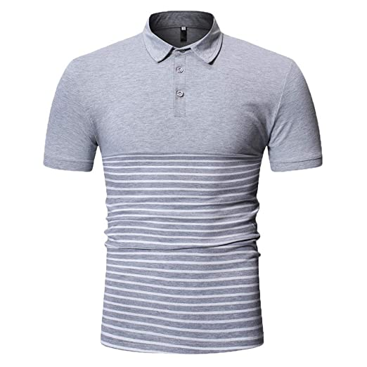 c7dab573 Fashion Men's Business Polo, MmNote Golf Polo Shirt Fashion Slim Stretch  Casual Textured Design Short Sleeve at Amazon Men's Clothing store: