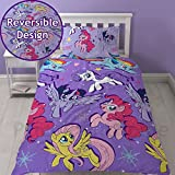 My Little Pony Movie Repeat Print Design ''Adventure'' Duvet Cover Set, 2 Piece UK Single/US Twin Sheet Set, 1 x Double Sided Sheet and 1 x Pillowcase