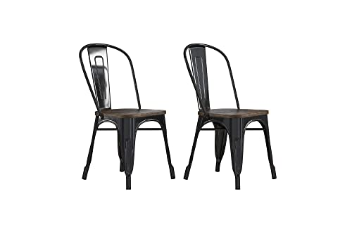 DHP Fusion Dining Chair, Black
