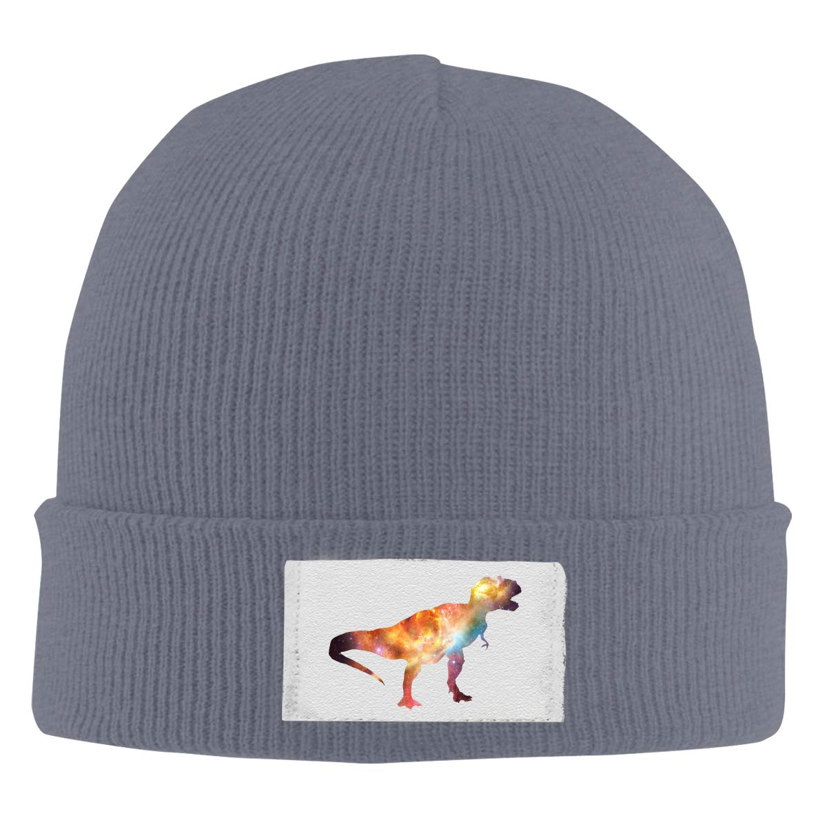 Galaxy Dinosaur Top Level Beanie Men Women Unisex Stylish Slouch Beanie Hats Black