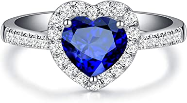 Silver Plated Turquoise Gemstone Anniversary Wedding Engagement Ring G