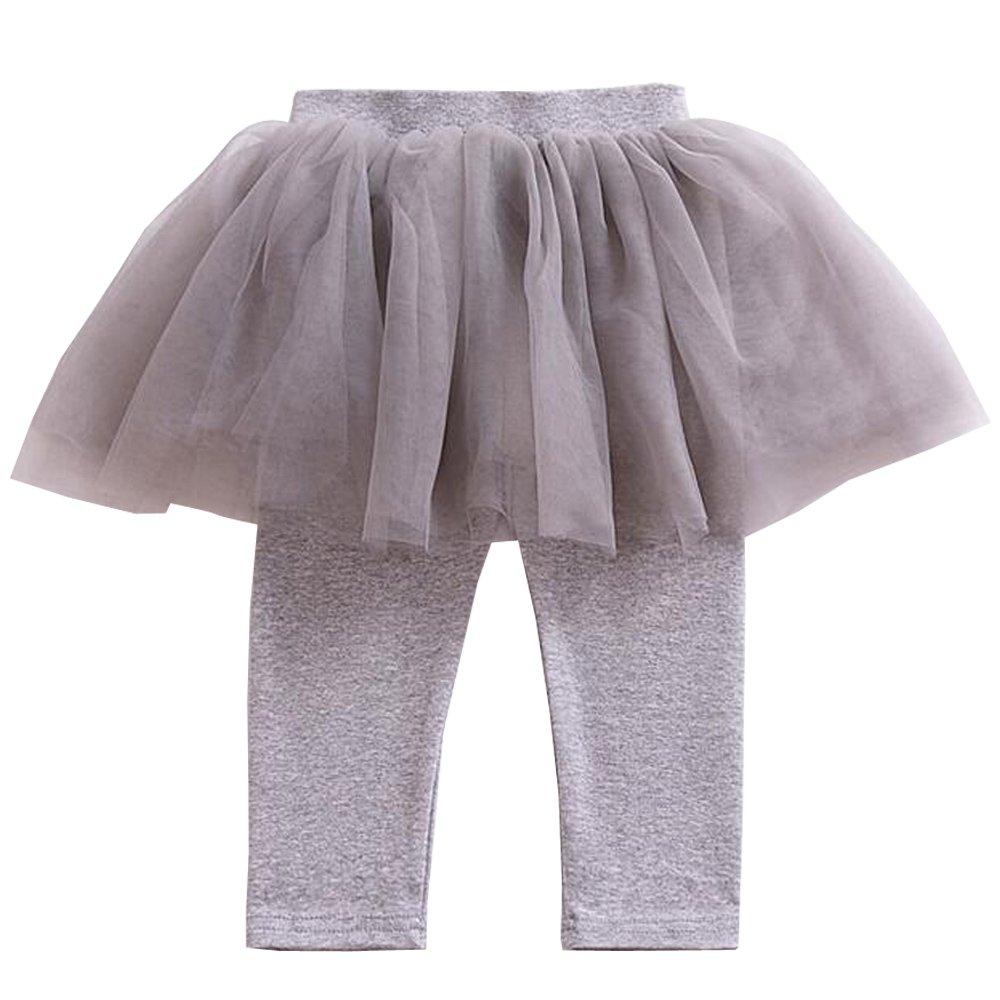 KINDOYO Leggings di bambini Girls bambini delle ghette dei pantaloni con il tutu gonna del pizzo 3-8 Anni