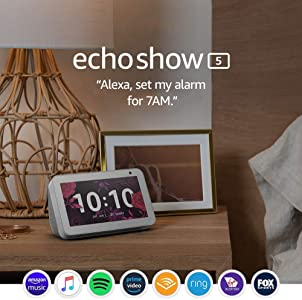 Echo Show 5 – Compact smart display with Alexa - Sandstone Fabric