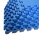"EVA Foam Puzzle Mat,Foam Mats,EVA Foam Interlocking Floor Mats,9 Titles Exercise Mat,12"" by"