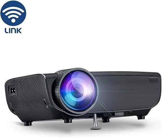 YONTEX Proyector WiFi (Inalámbrico 3600-Negro): Amazon.es: Electrónica