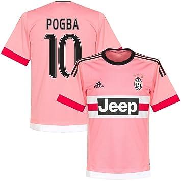 Adidas Juventus Away Pogba Camiseta 2015 2016 (Estilo del Ventilador impresión), Hombre, Color Rosa, tamaño Large: Amazon.es: Deportes y aire libre
