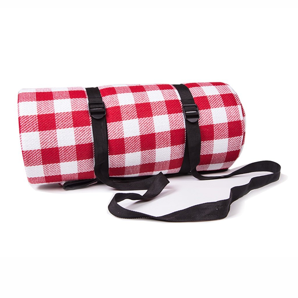 200200cm Moistureproof Mat Outdoor Picnic Camp Beach Tent Mat Waterproof Lawn Portable Pad (Color : Red Plaid Style)