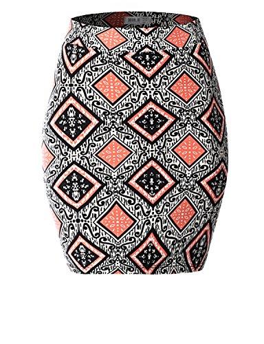 SJSP Mini Slim Fit Pull on PRINT85 Short Skirt,M