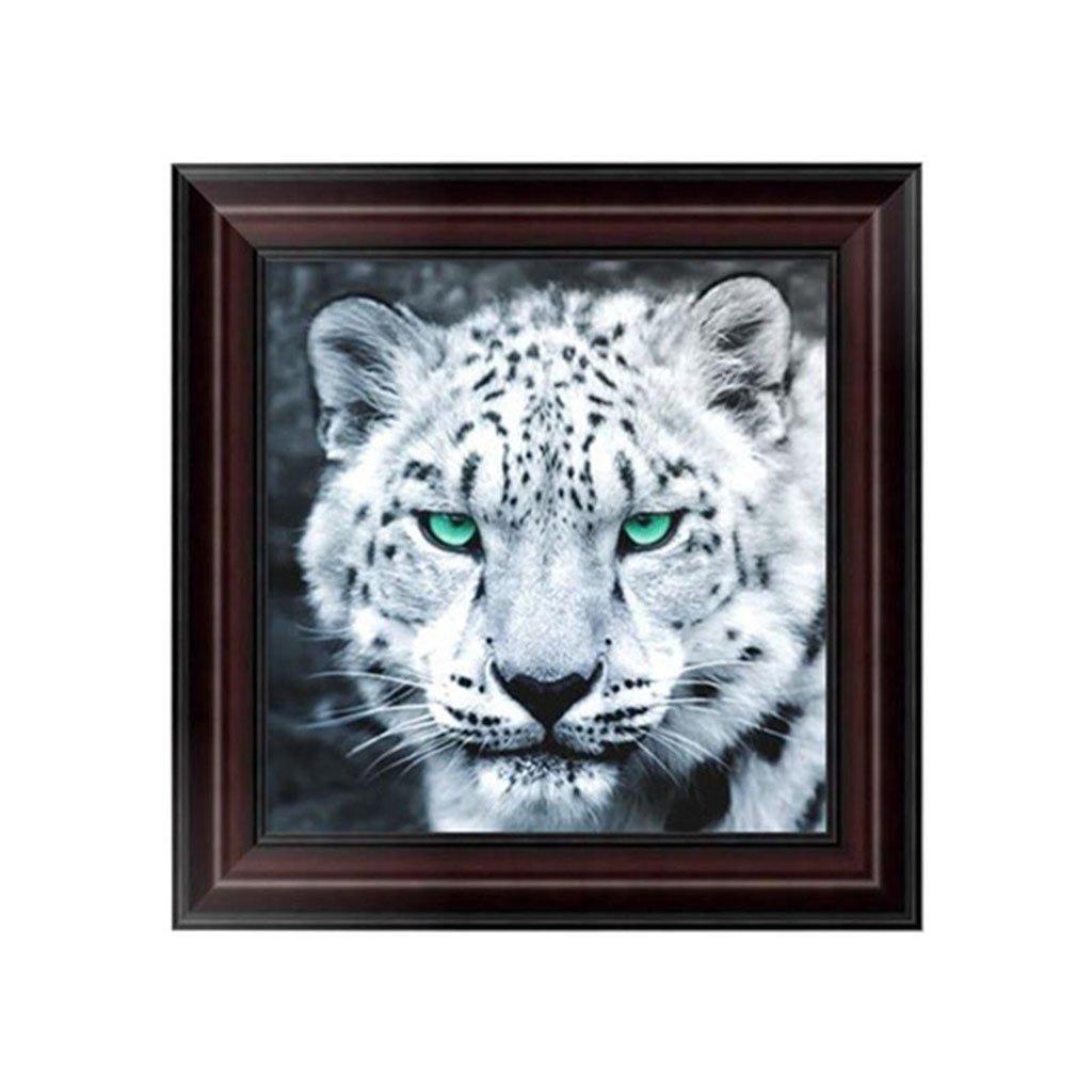 Bottone DIY Leopard 5dダイヤモンド刺繍絵画クロスステッチアートクラフトホームデコレーション B076BKF6CR