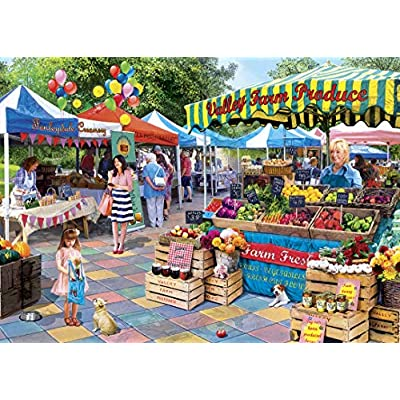 MasterPieces Hidden Image Glow - Corner Market 500-Piece Jigsaw Puzzle: Toys & Games
