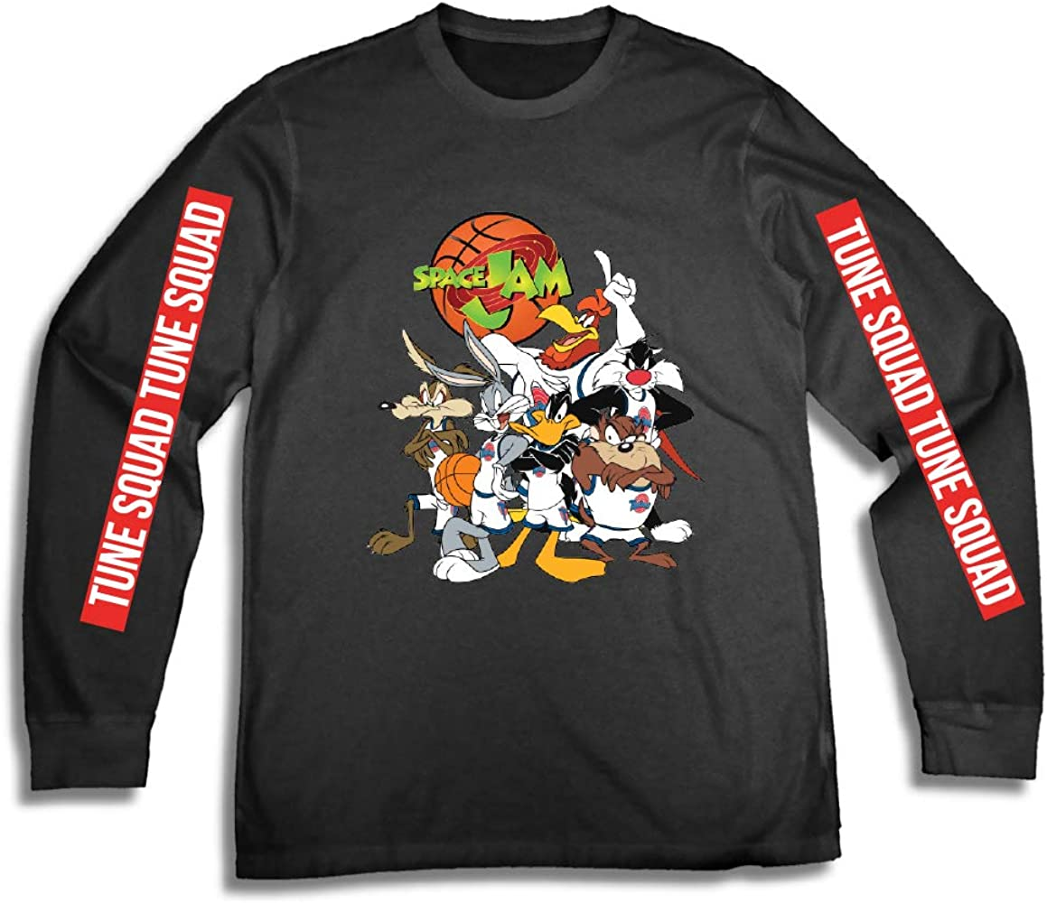 New Space Jam Looney Tunes Both Sides Classic Long Sleeve Mens T-Shirt