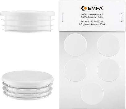 10 pezzi tappo per tubo rotondo 30 mm bianco plastica tappi a lamelle cappuccio