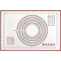 Silicone Baking Mat, Non Stick Ectra Thick Counter Mat with Measurement Baking Sheet, Fondant Mat, Dough Rolling Mat…