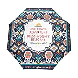 WIHVE Africa Art Paisley Umbrella Auto Open Close Windproof Compact