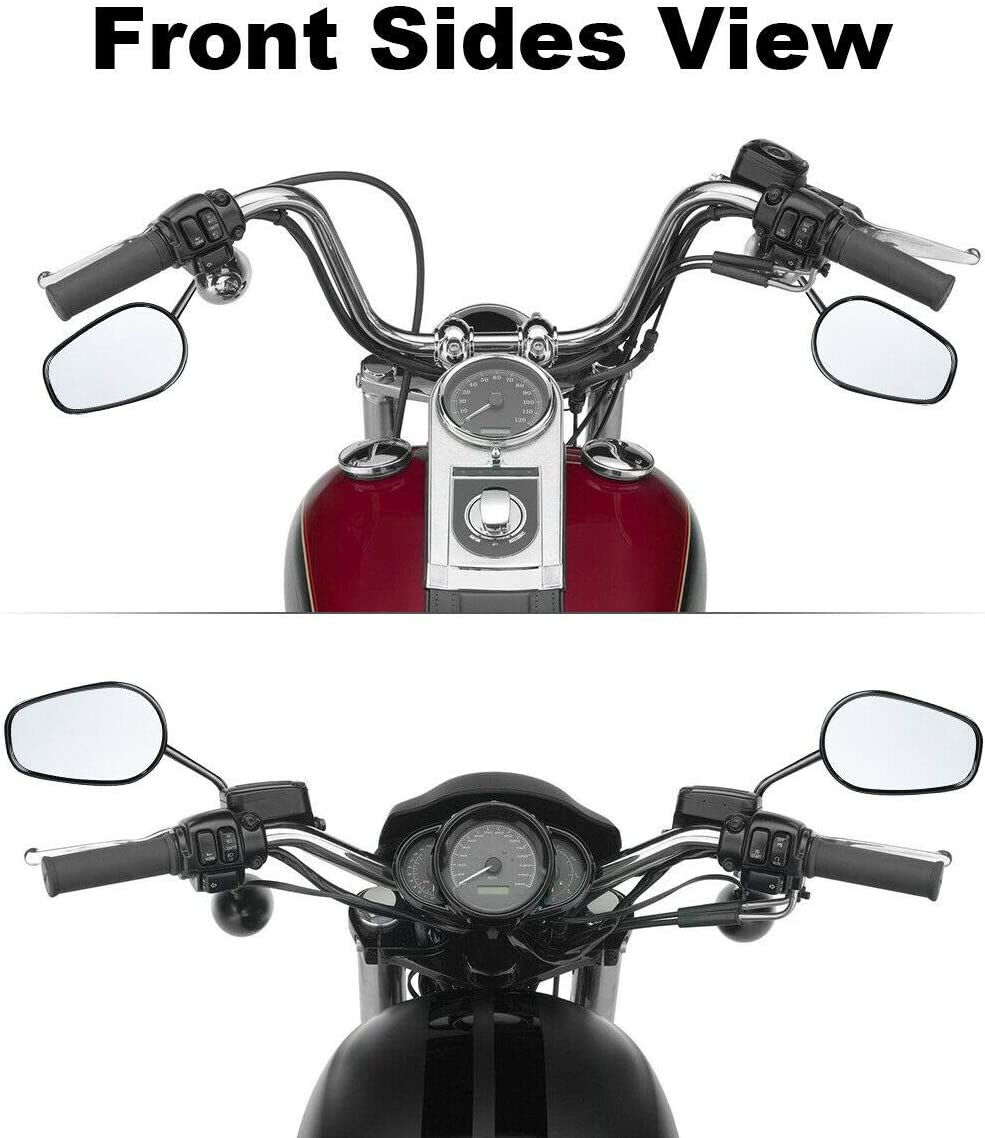 SLMOTO Black Rear View Side Mirrors Fit for Harley Road King Touring XL 883 SPORTSTER