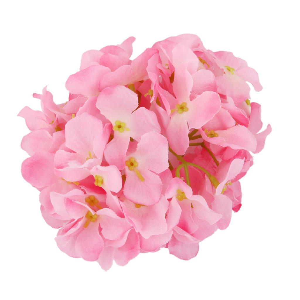 20x Artificial Pink Hydrangea Flowers Home Wedding Flower Head Decor Generic