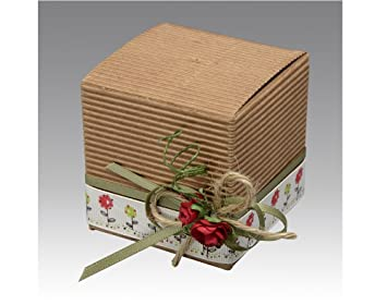 Amazon Com 10 Corrugated Kraft Card Gift Boxes With Lids 6cm Cube