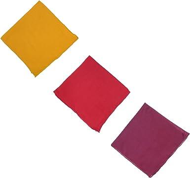 Pañuelos pack de 3 bufandas 50 x 50 cm tres colores rojo violeta ...