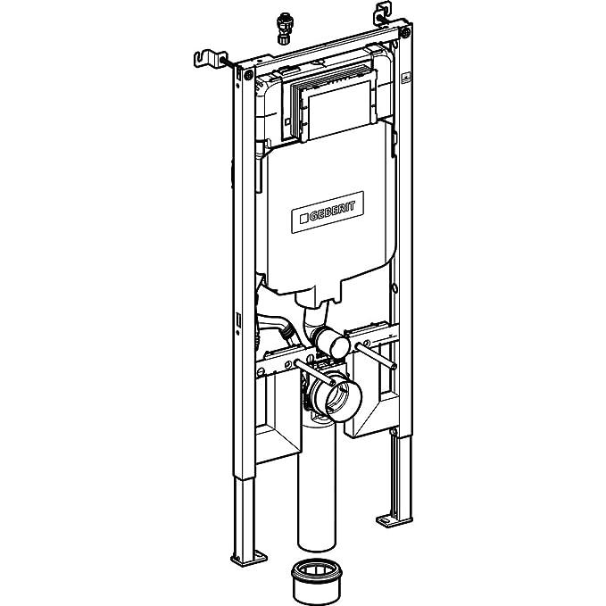 bâti-support WC Geberit Sigma 8 cm Extraplano, Compact en aplica (UP720): Amazon.es: Bricolaje y herramientas