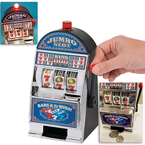 Toy Slot Machine, Lucky Sevens With Wining Sounds, Light & Coins