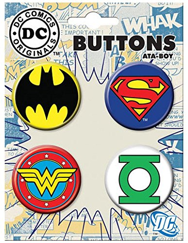 Ata-Boy DC Comics Originals Justice League Logos Assortment #11 Set of 4 1.25