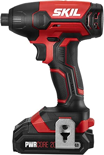 SKIL 20V 1 4 Inch Hex Cordless Impact Driver, Includes 2.0Ah PWRCore 20 Lithium Battery and Charger – ID572702